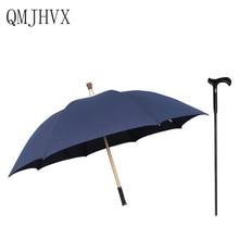 Men Long Handle 8K strong windproof Multifunctional Walking Stick Umbrella Elderly gift umbrella Outdoor Mountaineering Umbre