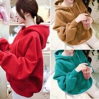 kpop red autumn loose winter Plus velvet hoodies women Bangtan Boys korean new hooded harajuku sweatshirt female clothes