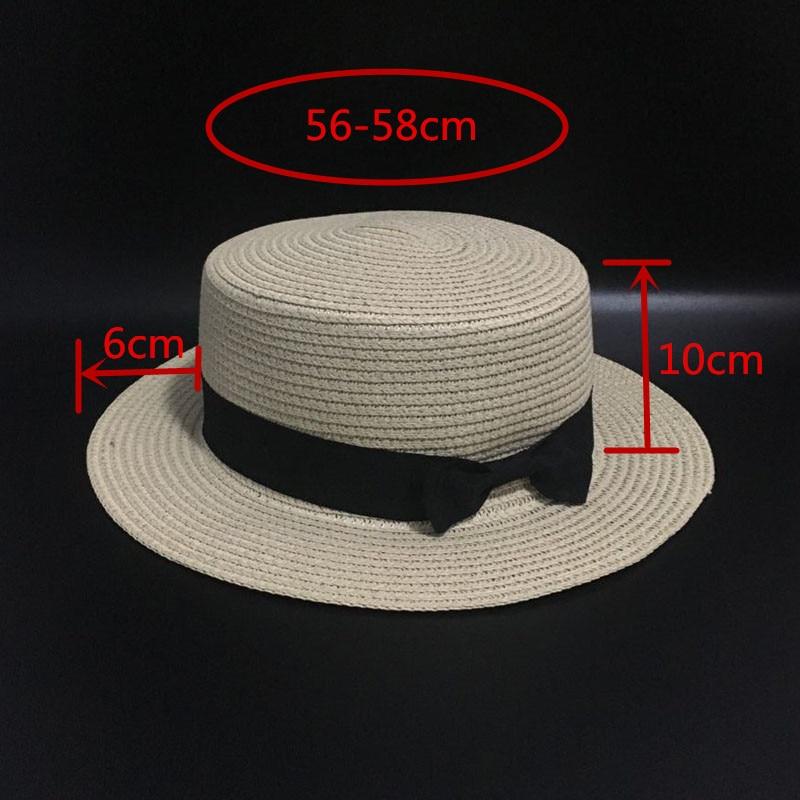 94f3cebc Ymsaid 2018 Summer Women Boater Beach Hat Female Casual Panama Hat Lady  Brand Classic Bowknot Straw