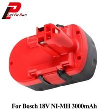 Сменный никель-металлогидридный аккумулятор Электроинструмент аккумулятор 3.0Ah 18 V для Bosch: 2607335278,13618, BAT025, 1659 K, 2607335680,32618-RT, 2607335560, 18VE-2