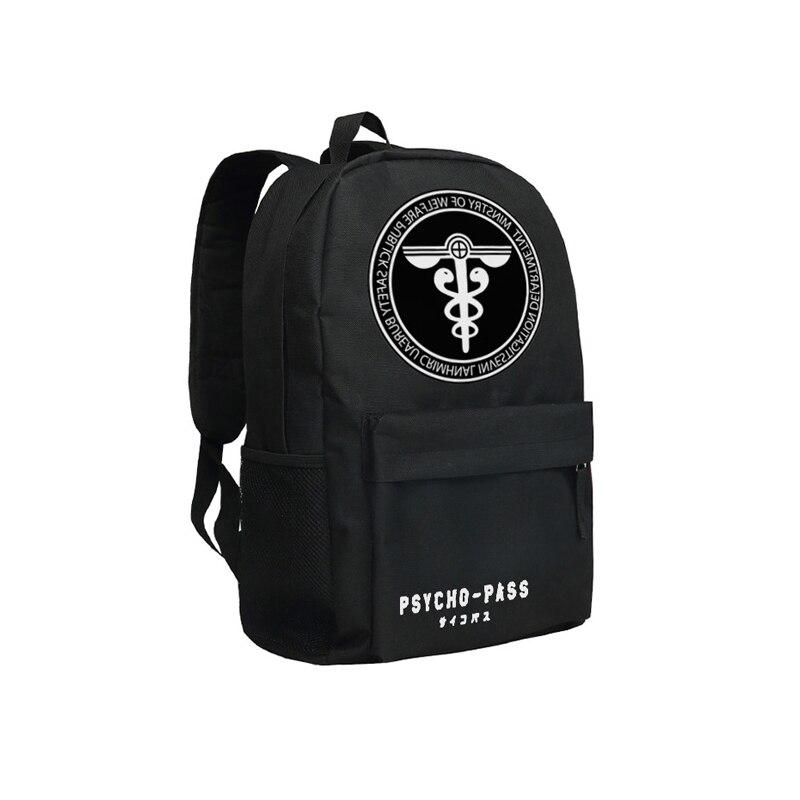 Zshop PSYCHO PASS Backpack Black Oxford Men Laptop Bags 14inch Bookbag for High School Backpacks zshop nine track charlie puth backpack for fans famous singer daypack