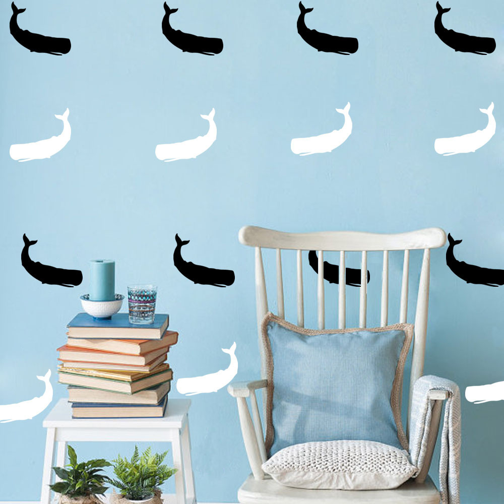 Hot Sale Creative DIY Whale Wall Stickers For Kids Rooms
