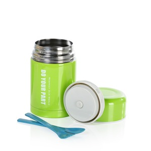 Image 5 - HAERS 600ml 750ml Food Thermos Silver Green Blue Red  White Thermal Lunch Box Food Container