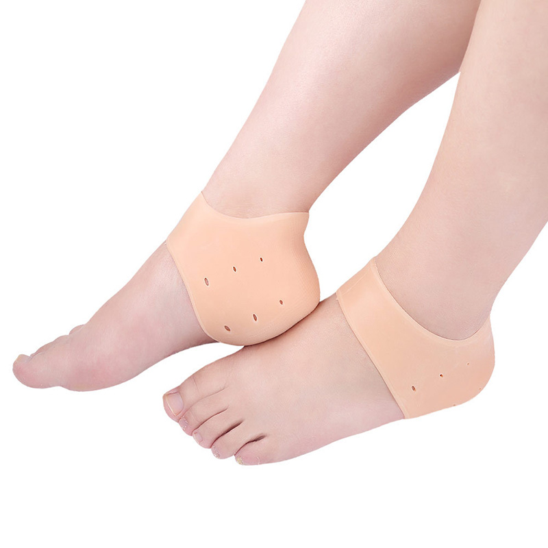 USHINE 1 Pair Silicone Pedicure Foot Care Protector Cracked Moisturizing Back Heel Skin Latin Ballet Insoles Dance Shoes Woman