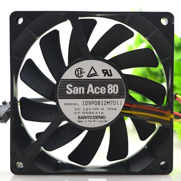 Новый оригинальный 8015 8 см 12 V 0.09A 109P0812M7D11 ультра-тихий 3-проводное Охлаждение вентилятором