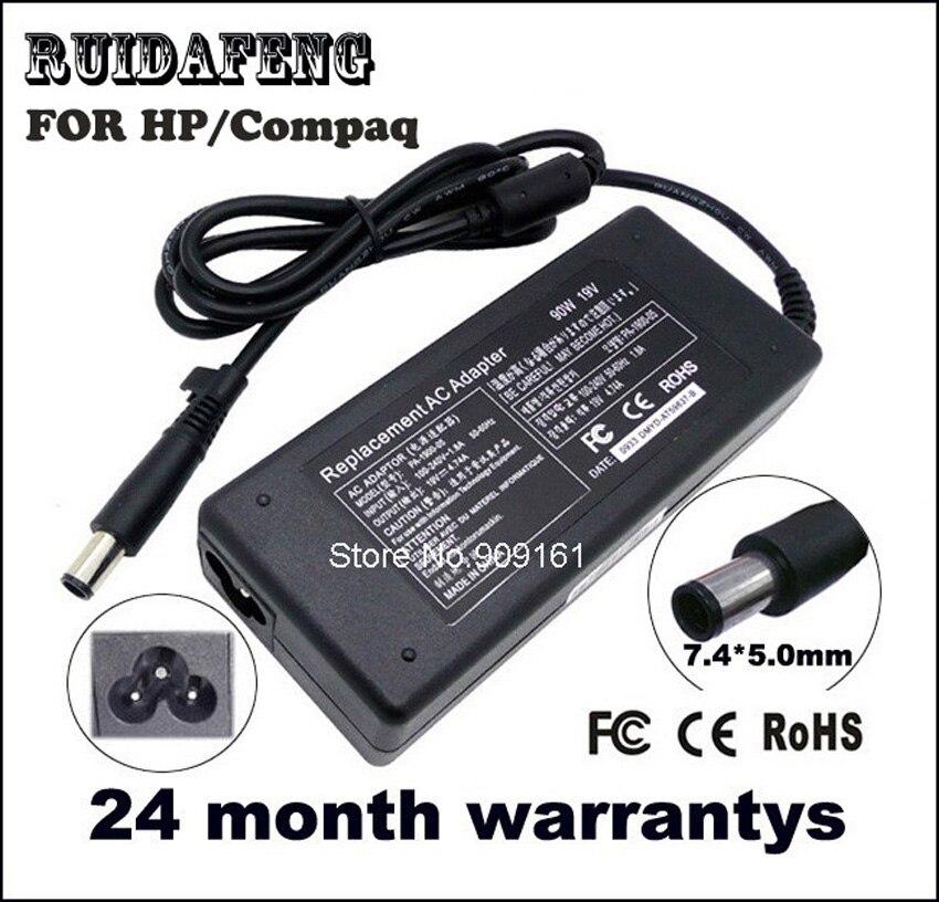 En gros 19 v 4.74a 90 w ac adaptateur chargeur pour hp pavilion dv4 dv5 dv7 g60 ordinateur portable alimentation