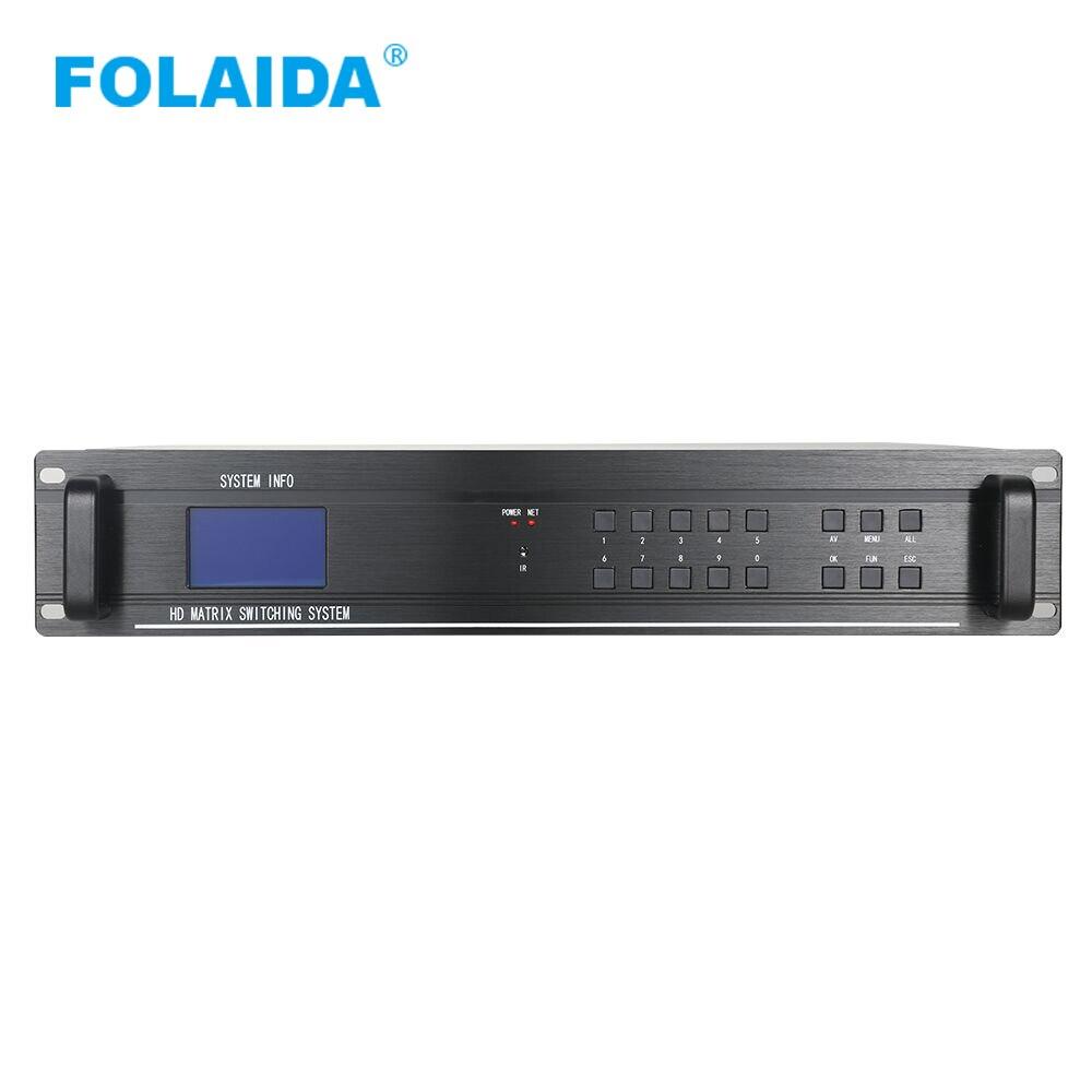 Folaida profissional baixo preço 4x 4/8x 8/16x1 6/16x32 hdmi matriz switcher 4k x 2k suporte 3d edid & blu-ray dvd & video wall