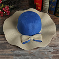 The new Ms. summer straw sun hat wave UV beach hat large brimmed hat lady