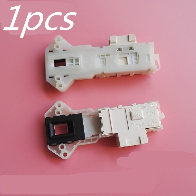 1pcs washing machine door lock Suitable for Panasonic Haier samsung lg washing machine parts original washer tractor xpq 6a of haier whirlpool samsung lg hand rubbing washing machine retractor brand new drainage motor