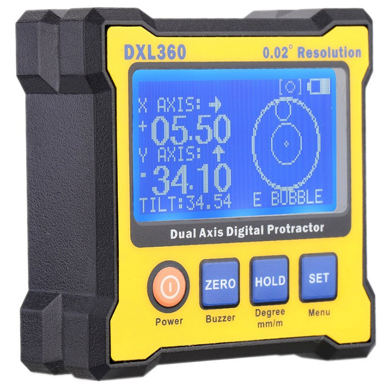 Digital Angle Protractor, Dxl360 Dual Axis Digital Angle Finder With 5 Side Magnetic Base High-Precision Inclinometer 50-60HzDigital Angle Protractor, Dxl360 Dual Axis Digital Angle Finder With 5 Side Magnetic Base High-Precision Inclinometer 50-60Hz
