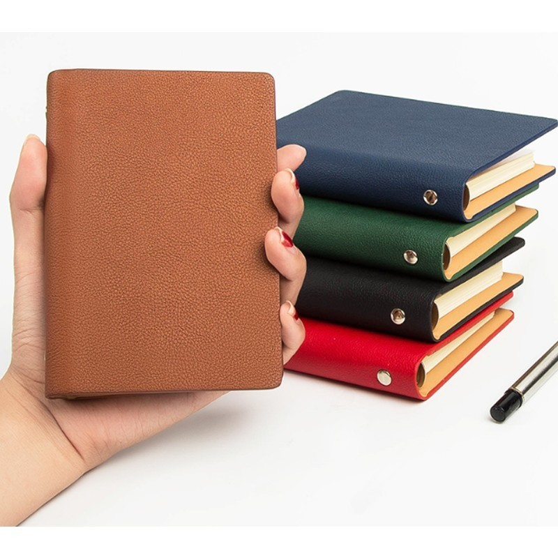 A7 Small Notebook Pocket Book Thickened Simple Notebook Loose-leaf Book Detachable Diary 365 Days Notebook