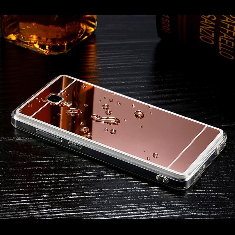 3e7b5c9de4c Moda Espelho de Galvanoplastia Luxo Ultra Slim Fina TPU Macio Para Trás  caso Para Xiaomi Redmi Nota 3 Capa Protetora Shell Saco armadura