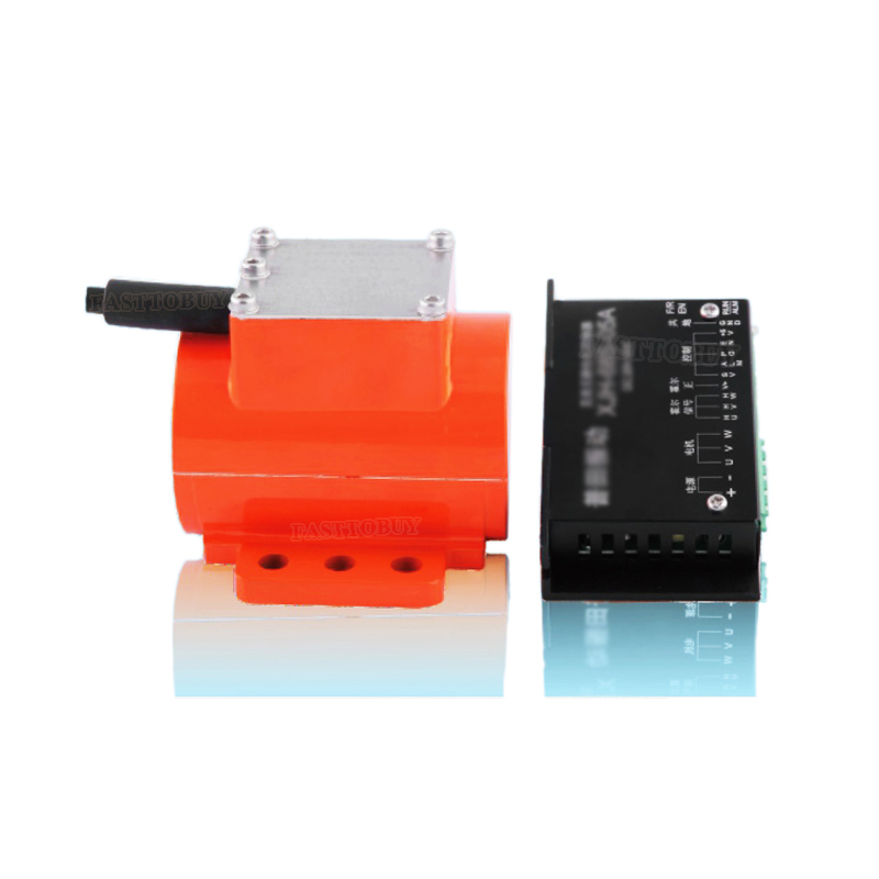 12V/24V/36V DC Brushless Micro Vibration Motor with Speed Controller 15W/20W 3800/4200rpm for Industrial and Food Machinery