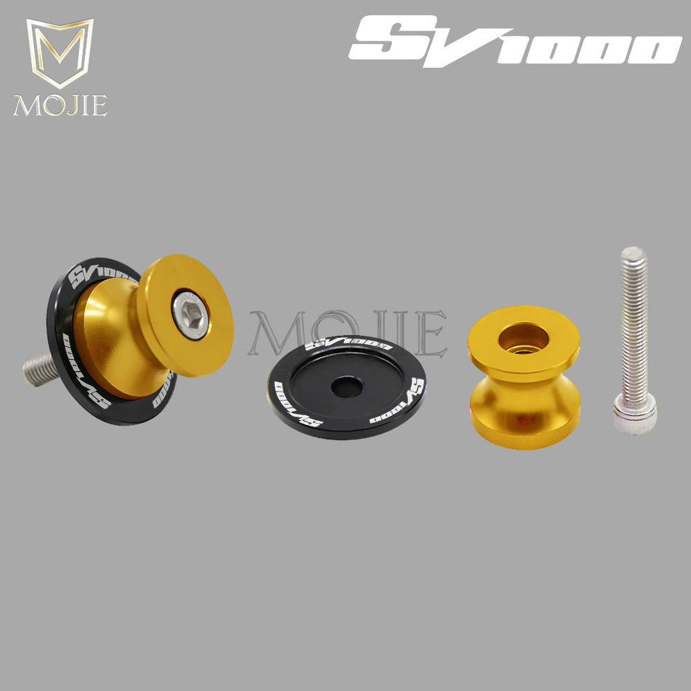 For SUZUKI SV1000 SV 1000 S SV1000S SV1000 S All Year Motorcycle 8mm CNC Swingarm Spools Slider Swingarm Stand Screws Slider