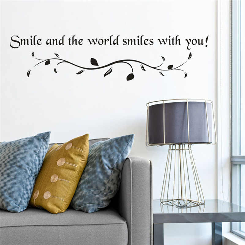 Image 2 - Removable Letter printing Wall Stickers  Children House Decoration Lovely kids room decoration Creative sticker mural-in Wall Stickers from Home & Garden