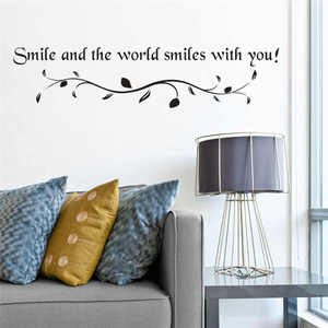 Image 2 - Removable Letter printing Wall Stickers  Children House Decoration Lovely kids room decoration Creative sticker mural