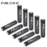 10pcs! PALO 1100mAh 1.2V AAA Rechargeable Battery Ni-MH NiMH AAA Battery with Low Discharge for Camera Remote Control Toy
