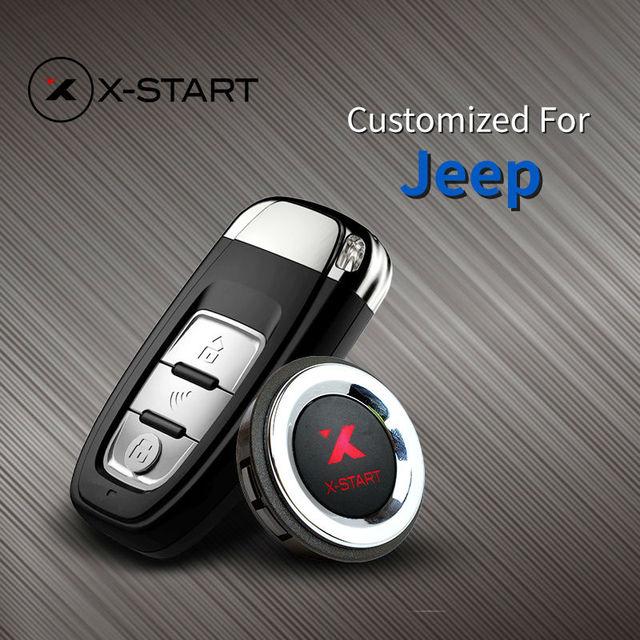 US $288 0  x start Push Start Remote Button Smart Key Start Car Alarm for  JEEP patriot Compass Wranglger Renegade-in Burglar Alarm from Automobiles &
