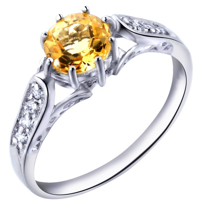 Natural Citrine Ring 925 Sterling Silver Yellow Crystal Woman Fashion Fine Elegant Jewelry Queen Lux Birthstone Gift SR0225C все цены