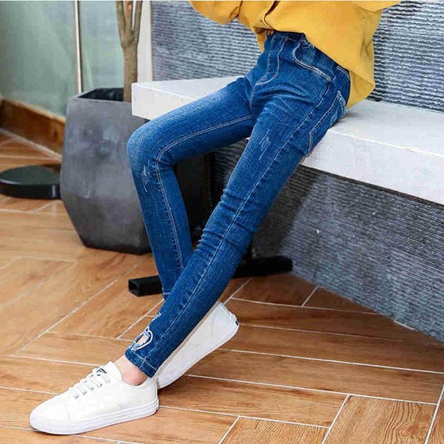 5bd222310 Jeans for Girls Girls Leggings Kids Jeans Pants Tommy Jeans Children Denim  Overall Trousers Toddler Kids Pencil Pants Pantalon