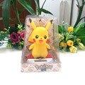 Envío Gratis 4 Unidades Por Lote Feliz Bailando Bajo la Luz Plena No Batería Novedad Regalos del Día de Los Niños Pikachu Solar juguetes