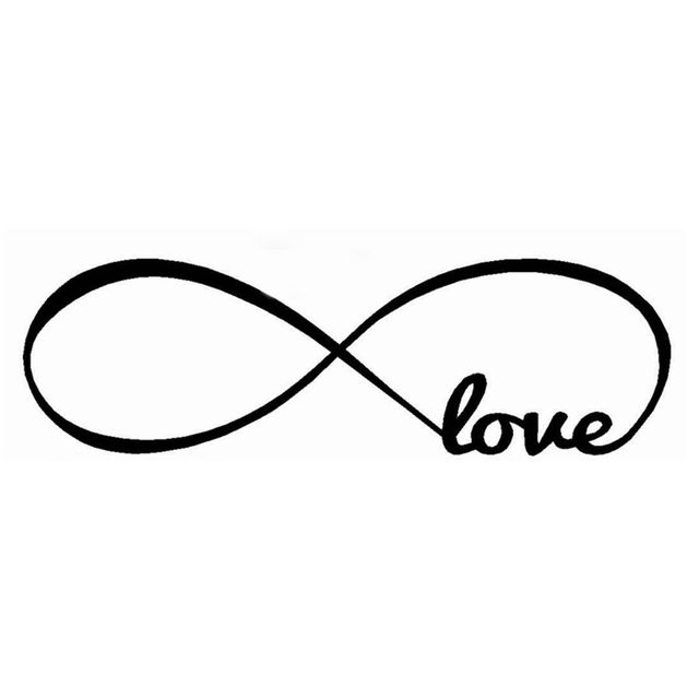 Infinity Symbol Word Love Bedroom Wall Decal Free Shipping Worldwide