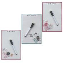 Die küche gedruckt Dry-Erase Flexible Magnetische Whiteboard/Nachricht board/Memo Pad/Dialog Box Kühlschrank Magneten