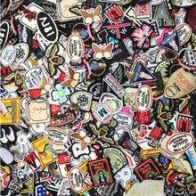 50 шт., смешанные вставки для одежды, вышивка, летняя эмблема на ткани, наклейки для одежды, украшение для джинсов