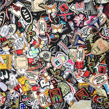 50PCs Mixed Iron On and Sew On Patches For Clothing Embroidery Patch Summer Fabric Badge Stickers For Clothes Jeans Decoration