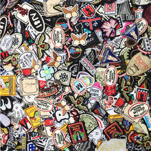 50PCs Mixed Iron On and Sew-On Patches For Clothing Embroidery Patch Summer Fabric Badge Stickers For Clothes Jeans Decoration(China)