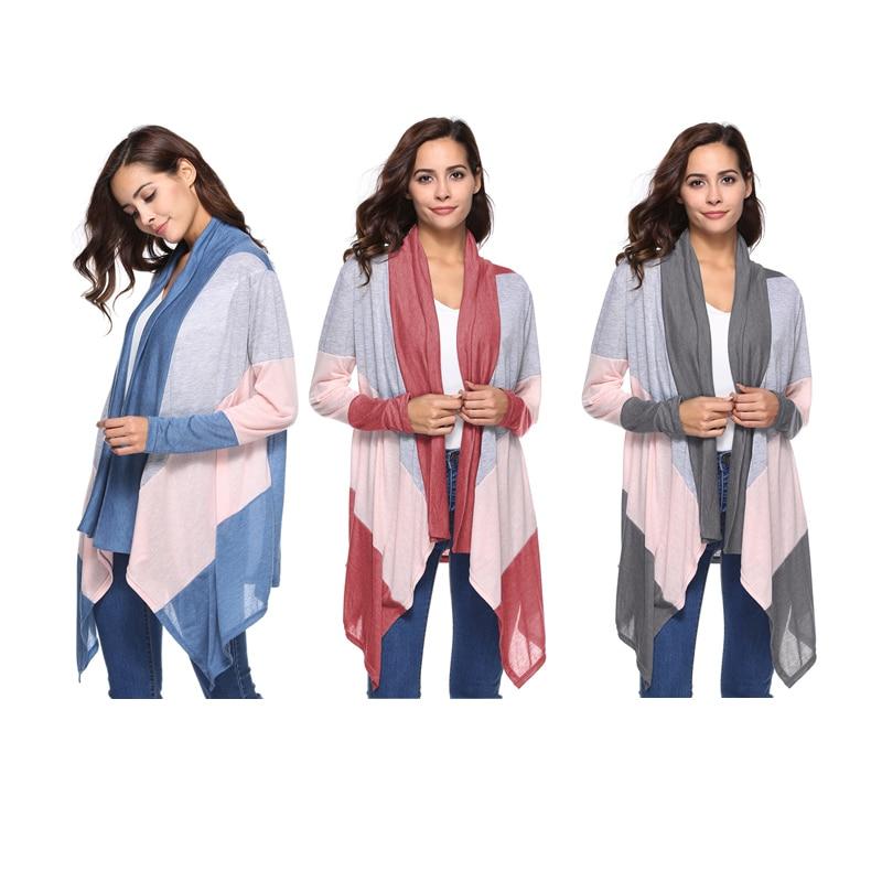 ENXI Summer Basic Coat Women Outerwear Tops Casual Cardigans Jackets Long Sleeve Maternity Loose Coat Tops Tee Tunic