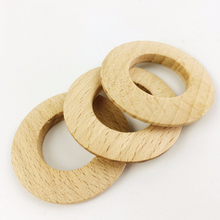 20pcs 46mm Unfinished Beech Annular DIY Necklace Bracelet Accessories Wood Slices BPA Free Food Grad