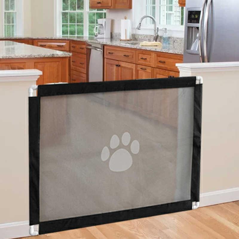 Изолирующая сетка для дверного ограждения для собак, кошек, лап, переносная сборочная Защитная ограда, аксессуары для домашних животных