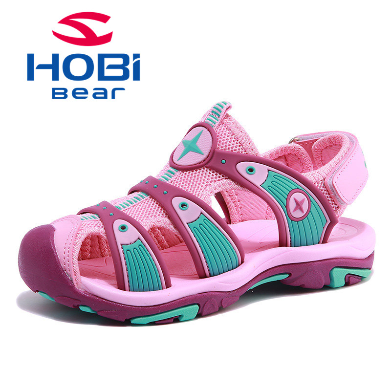Kids Sandals for Girls Boys Summer Shoes Beach Slippers Breathable Soft Sole Footwear for Children Top Brand HOBIBEAR AU3326 joyyou brand summer beach slippers kids shoes boys girls school sandals children teenage footwear baby for child fashion shoes