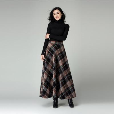 Aliexpress.com : Buy New fashion winter long skirt women's high ...
