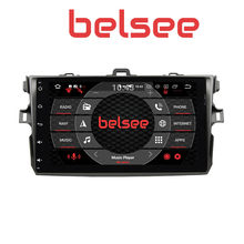 "Belsee 9 ""IPS Touch Screen Android 8.0 Unidade de Cabeça Estéreo Multimedia Player Radio para Toyota Corolla 2006 2007 2008 2009 2010 2011(China)"