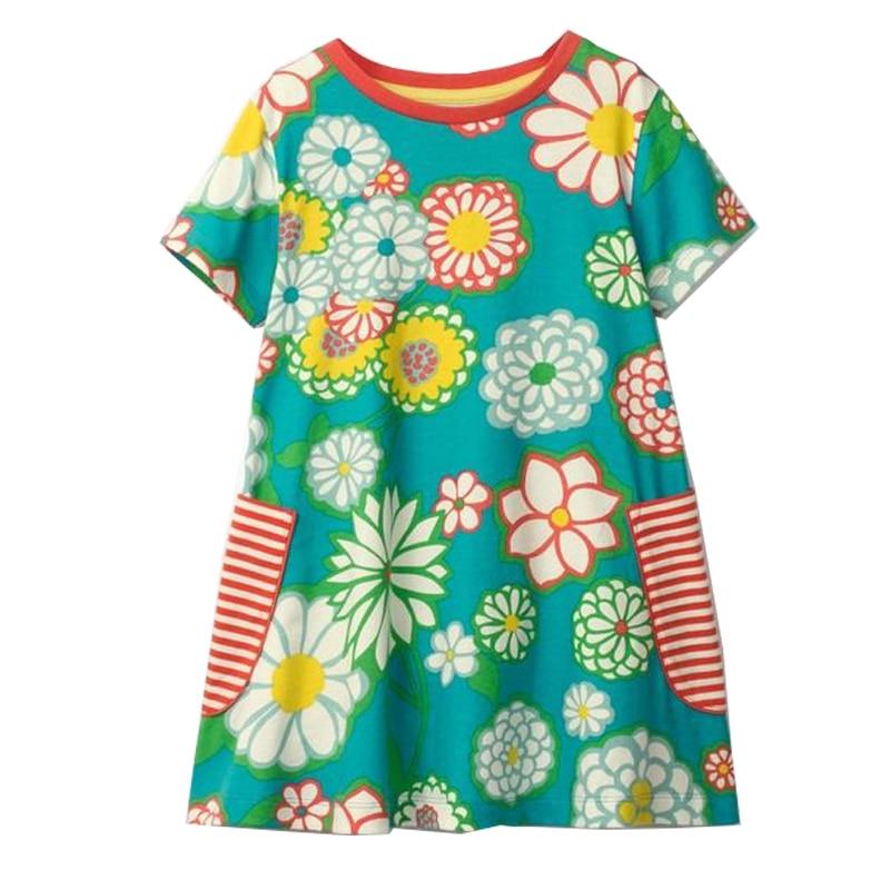 Baby Girls Summer Dress Floral Princess Costume 2018 Brand Kids Unicorn Party Dresses for Girls Clothes Vestidos Toddler Dress цена