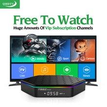 Европа арабский французский IP ТВ 1300 Каналы 4 К фильм T95Zplus Android 6.0 Умные телевизоры коробка QHD ТВ подписки французский турецкий IP Великобритании ТВ коробка