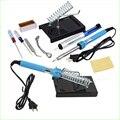 1set 9 in 1 DIY Electric Soldering Iron Starter Tool Kit Set With Iron Stand Solder Desoldering Pump 220V 40W TK1164