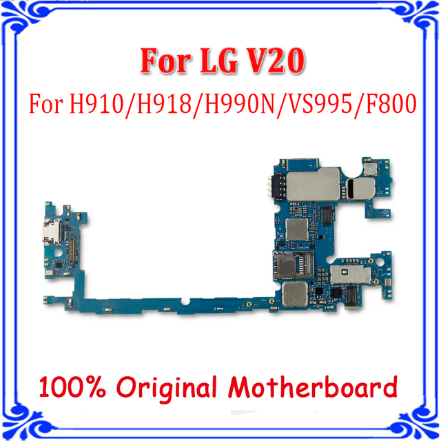 US $50 0 |64GB Full Work Original Unlock for LG V20 H910 H918 H990 H990N  VS955 F800 Motherboard Main Board replacement plate-in Mobile Phone Antenna