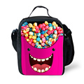 Милые дети обед сумки теплоизолирующего сумка Emoji конфеты печать каваи закуска детей Lancheira пикника портативный