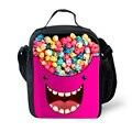 Niños lindos bolsas de almuerzo con aislamiento térmico bolso de hombro Emoji impresión dulces Kawaii lonchera niños Lancheira bolsa Picnic