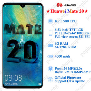 Image 3 - Huawei Mate 20 נייד טלפון 6.53 אינץ קירין 980 אוקטה Core טביעות אצבע 4000mAh מטען 4 * מצלמה NFC