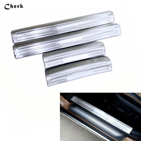 High Quality 4PCS Stainless Steel Car Body Cover Pedal Door Sill Scuff Plate External Threshold For