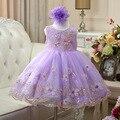 Платья для девочек 11 лет дети 12 лет девушка 2017 новый летний платье младенца о-образным вырезом вышивка рукавов красный фиолетовый