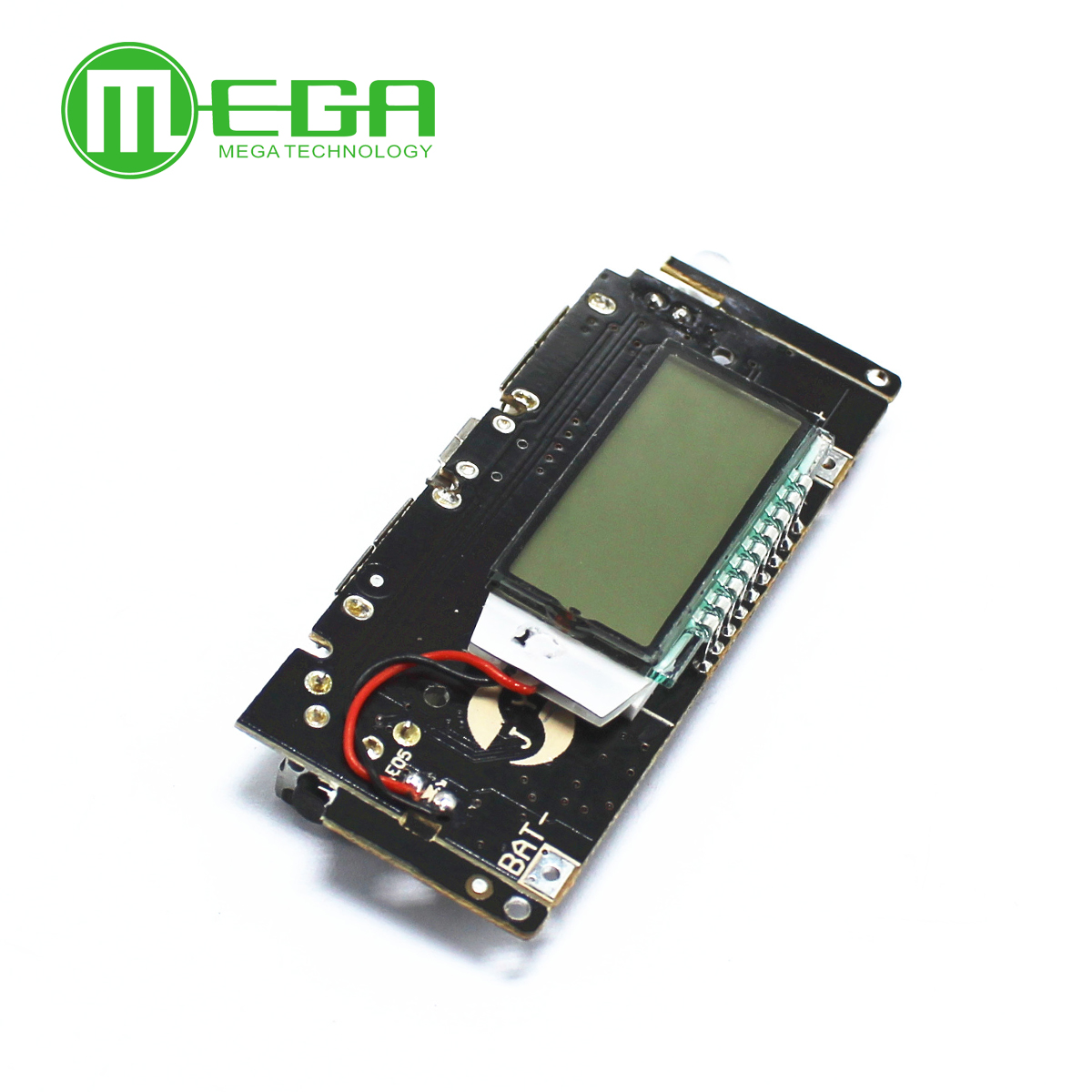 Digital LCD 5V 2A Mobile Power Bank Charge Controller Dual USB 18650 Lithium Battery Charger Board Power Regulator Module PCB image
