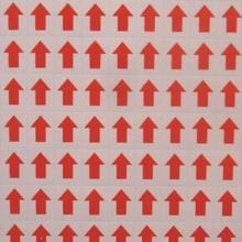 3000 шт/партия 12x9 мм Красная стрела самоклеющаяся бумажная этикетка наклейка, Пункт № GU11
