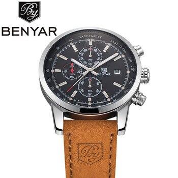 BENYAR Men Luxury Watch - 43MM - Leather Strap - 2018 collection 1