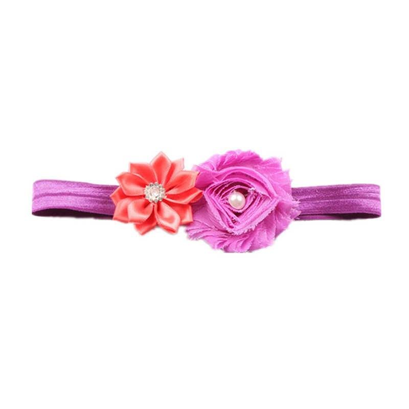 อุปกรณ์เสริมผมเด็กน่ารัก Headband ดอกไม้ปลอมไนลอนสำหรับเด็กประดิษฐ์ดอกไม้วงยืดหยุ่น Headwear