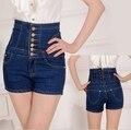 S MLXL2XL 3XL 4XL 5XL Women Plus Size High Waisted Denim Shorts For Women Jeans Shorts Front Botton Summer Style Shorts